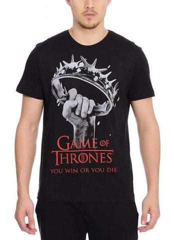 Game of Thrones T-SHIRT Game Of Thrones Win Or Die Black Half Sleeve Men T-Shirt
