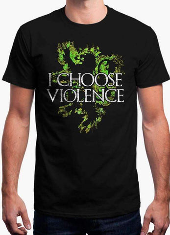 Game of Thrones T-SHIRT I CHOOSE VIOLENCE - GAME OF THRONES OFFICIAL T-SHIRT