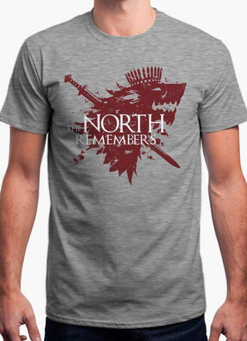 Game of Thrones T-SHIRT THE NORTH REMEMBERS - GAME OF THRONES OFFICIAL T-SHIRT