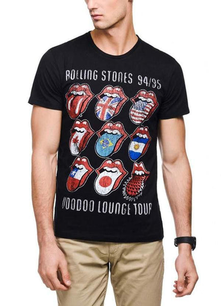 Green Chilli T-SHIRT The Rolling Stone Voodoo Lounge Black Half Sleeve Men T-Shirt
