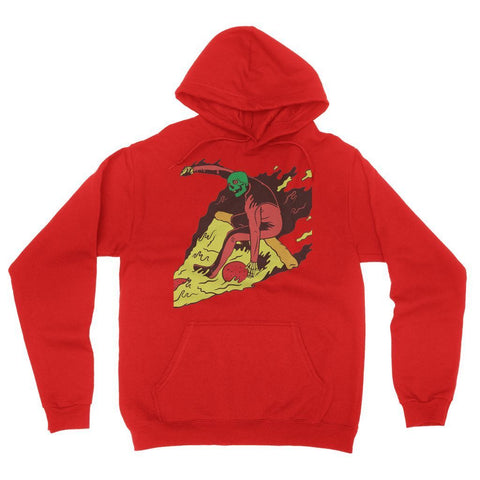Hassan Shiekh Hoodie S / Red Pizza Surf  California Fleece Pullover Hoodie