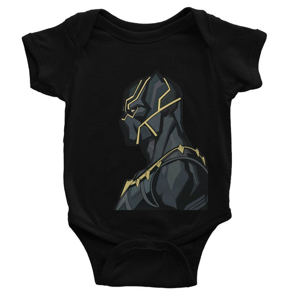 Hassan Shiekh Rompers 0-3 Months / Black Black Panther By Hassan Sheikh Baby Bodysuit