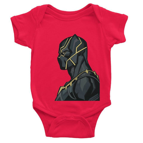 Hassan Shiekh Rompers 0-3 Months / Red Black Panther By Hassan Sheikh Baby Bodysuit