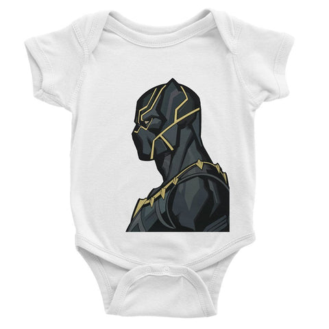 Hassan Shiekh Rompers 0-3 Months / White Black Panther By Hassan Sheikh Baby Bodysuit