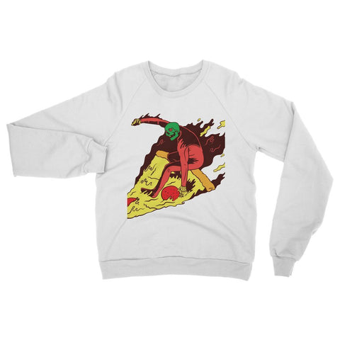 Hassan Shiekh Sweat Shirt XS / Arctic White Pizza Surf  Sweatshirt
