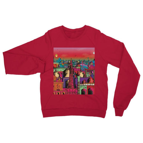 Hassan Shiekh Sweat Shirt XS / Fire Red Lahore on Drugs Sweatshirt