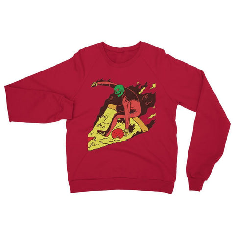 Hassan Shiekh Sweat Shirt XS / Fire Red Pizza Surf  Sweatshirt