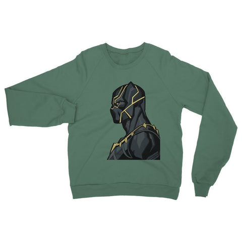 Hassan Shiekh Sweat Shirt XS / Forest Green Black Panther By Hassan Sheikh Sweatshirt