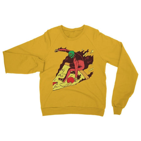 Hassan Shiekh Sweat Shirt XS / Gold Pizza Surf  Sweatshirt