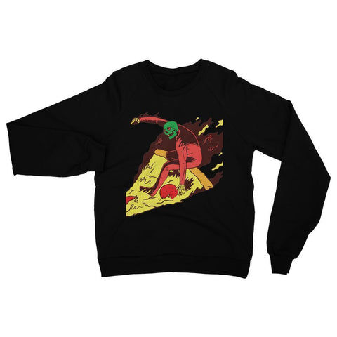 Hassan Shiekh Sweat Shirt XS / Jet Black Pizza Surf  Sweatshirt