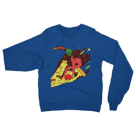 Hassan Shiekh Sweat Shirt XS / Royal Blue Pizza Surf  Sweatshirt
