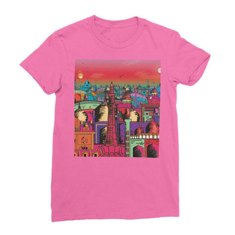 Hassan Shiekh T-SHIRT S / Fuchsia Lahore on Drugs Women's Fine Jersey T-Shirt