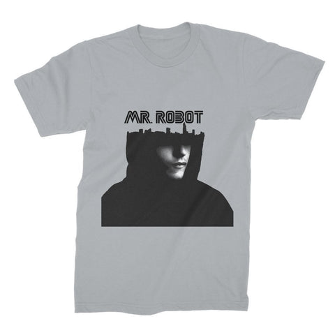 Hassan Shiekh T-SHIRT S / Heather Grey Mr Robot Unisex Fine Jersey T-Shirt