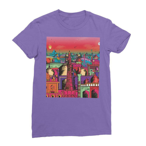 Hassan Shiekh T-SHIRT S / Purple Lahore on Drugs Women's Fine Jersey T-Shirt