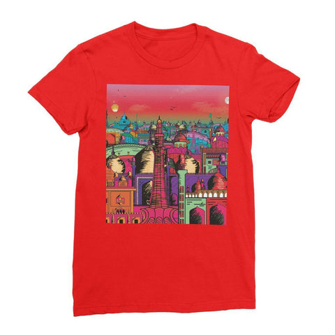 Hassan Shiekh T-SHIRT S / Red Lahore on Drugs Women's Fine Jersey T-Shirt