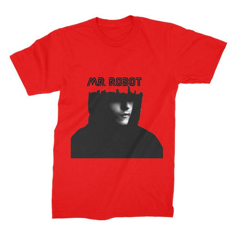 Hassan Shiekh T-SHIRT S / Red Mr Robot Unisex Fine Jersey T-Shirt