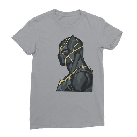 Hassan Shiekh T-shirt XS / Grey Black Panther By Hassan Sheikh Womens T-Shirt