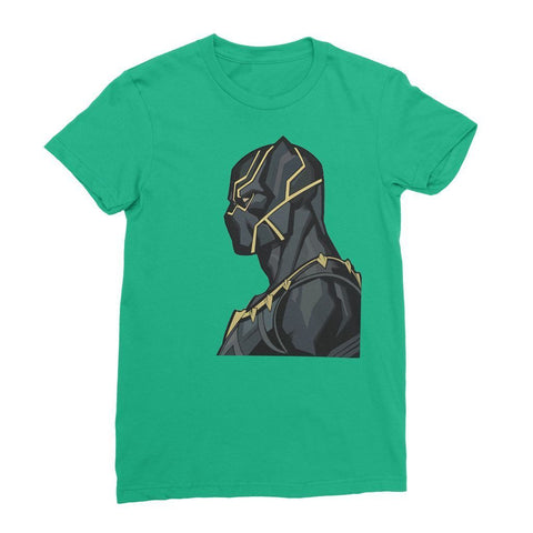 Hassan Shiekh T-shirt XS / Irish Green Black Panther By Hassan Sheikh Womens T-Shirt