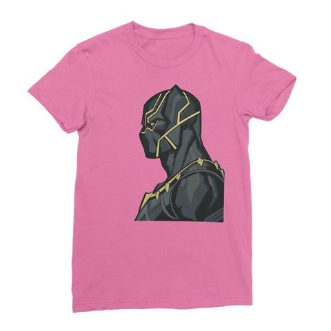 Hassan Shiekh T-shirt XS / Pink Black Panther By Hassan Sheikh Womens T-Shirt