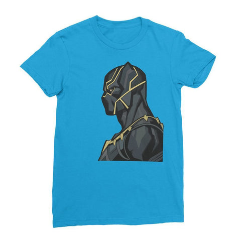 Hassan Shiekh T-shirt XS / Sapphire Black Panther By Hassan Sheikh Womens T-Shirt