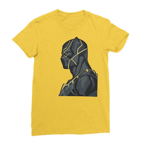 Hassan Shiekh T-shirt XS / Yellow Black Panther By Hassan Sheikh Womens T-Shirt
