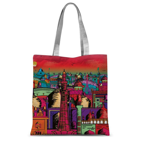 "Hassan Shiekh tote bag 15""x16.5"" Lahore on Drugs Sublimation Tote Bag"