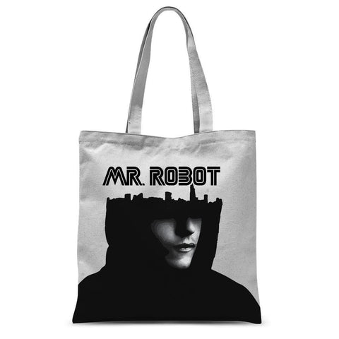 "Hassan Shiekh tote bag 15""x16.5"" Mr Robot Sublimation Tote Bag"