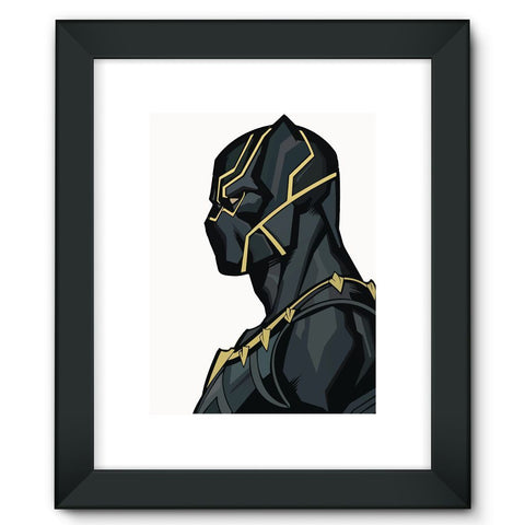 "Hassan Shiekh Wall Frames 12""x16"" / Black Black Panther By Hassan Sheikh Framed Fine Art Print"