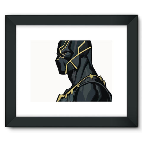 "Hassan Shiekh Wall Frames 16""x12"" / Black Black Panther By Hassan Sheikh Framed Fine Art Print"
