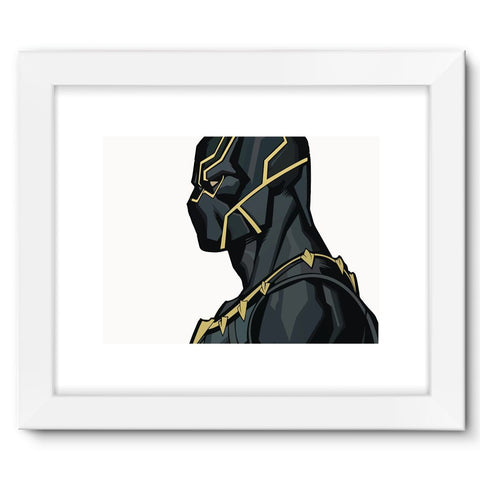 "Hassan Shiekh Wall Frames 16""x12"" / White Black Panther By Hassan Sheikh Framed Fine Art Print"