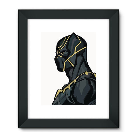 "Hassan Shiekh Wall Frames 24""x32"" / Black Black Panther By Hassan Sheikh Framed Fine Art Print"