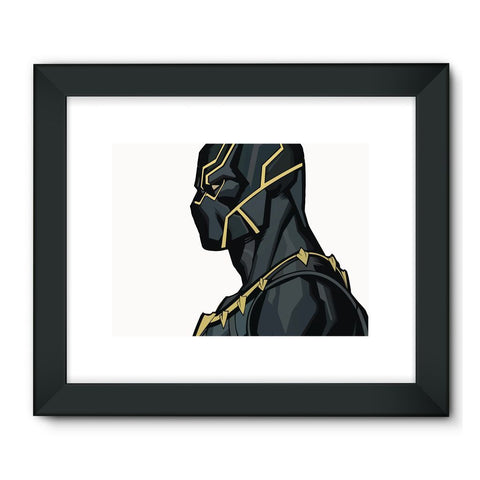 "Hassan Shiekh Wall Frames 32""x24"" / Black Black Panther By Hassan Sheikh Framed Fine Art Print"