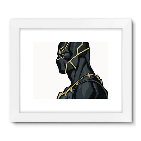 "Hassan Shiekh Wall Frames 32""x24"" / White Black Panther By Hassan Sheikh Framed Fine Art Print"