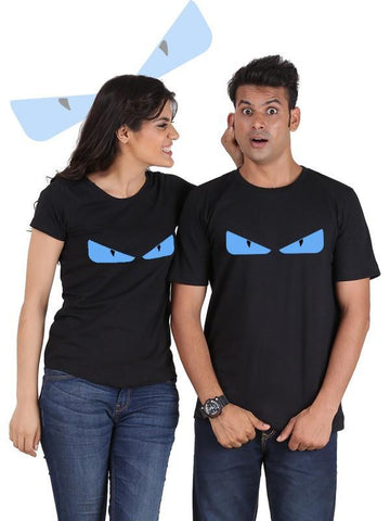 HUM TUM T-SHIRT Devil Eyes Couple T-Shirts