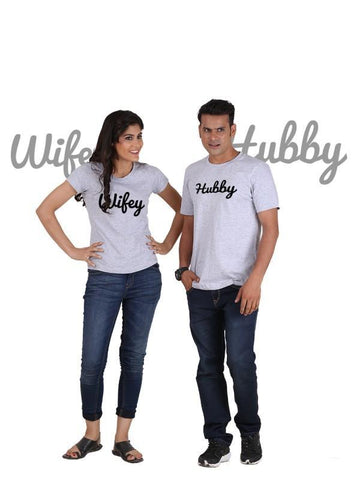 HUM TUM T-SHIRT Hubby and Wifey (Classic) Classic Couple T-Shirt