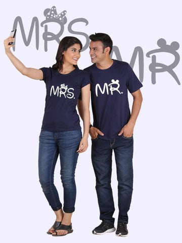 HUM TUM T-SHIRT Mr. and Mrs. Couple T-Shirts