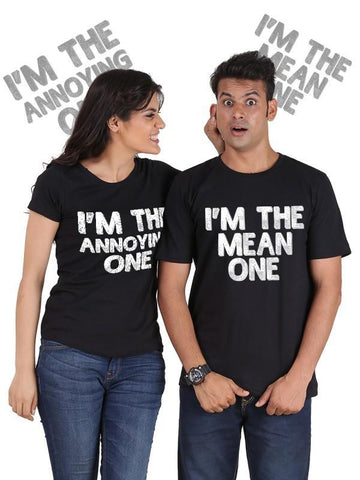 HUM TUM T-SHIRT The Mean One, The Annoying One Couple T-Shirts