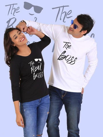 HUM TUM T-SHIRT The Real Boss Couple Full Sleeves