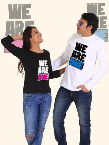 HUM TUM T-SHIRT We are One Couple Full Sleeves