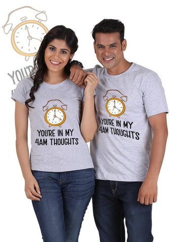 HUM TUM T-SHIRT You are in my Thoughts Couple T-Shirts