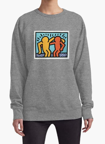 Huma Ijaz Sweat Shirt Keith Haring Two 2 Art WOMEN SWEAT SHIRT