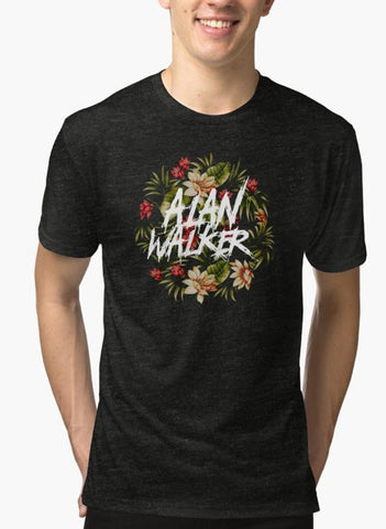 Imtiaz Zuhaib T-SHIRT Alan Walker Flower Black Malange T-shirt