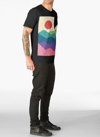 Imtiaz Zuhaib T-SHIRT Over The Rainbow Black T-shirt