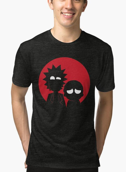 Imtiaz Zuhaib T-SHIRT Rick and Morty Black Malange T-shirt