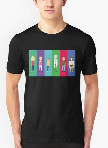 Imtiaz Zuhaib T-SHIRT Rick and Morty - Minimalists T-shirt