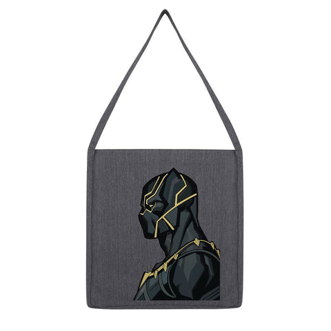kite.ly Accessories Melange Dark Heather Black Panther By Hassan Sheikh Tote Bag