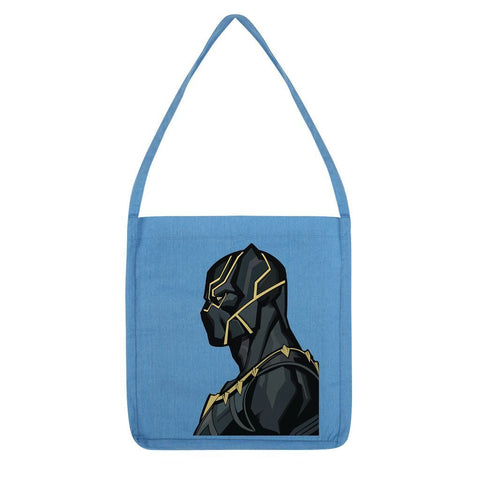 kite.ly Accessories Melange Mid Blue Black Panther By Hassan Sheikh Tote Bag