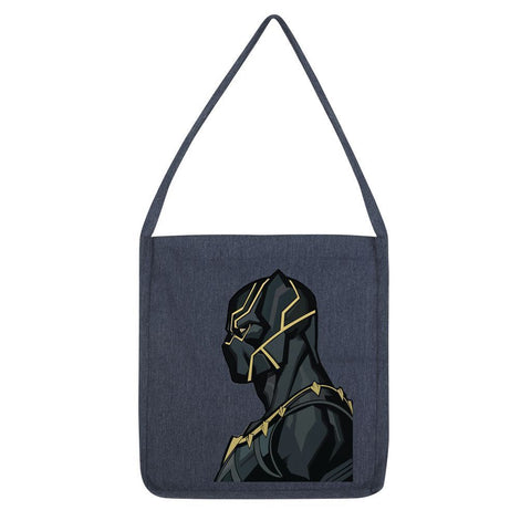 kite.ly Accessories Melange Navy Black Panther By Hassan Sheikh Tote Bag