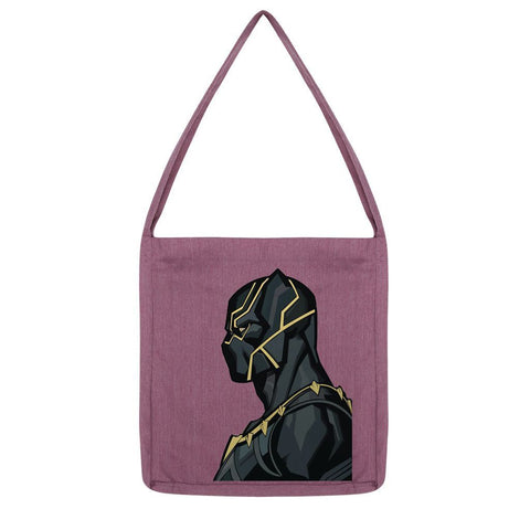 kite.ly Accessories Melange Plum Black Panther By Hassan Sheikh Tote Bag