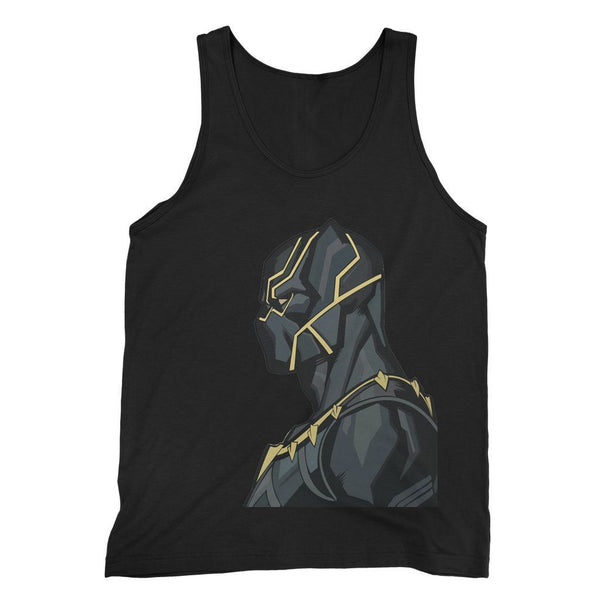 kite.ly Apparel S / Black Black Panther By Hassan Sheikh Fine Jersey Tank Top